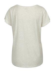 Svetlosivé melírované tričko s náprsným vreckom Blendshe Mandy