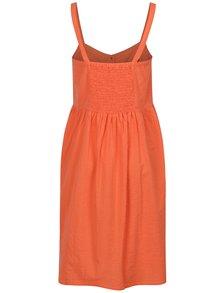 Rochie portocalie in dungi cu buzunare  Blendshe Sersa
