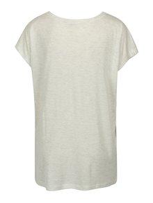 Svetlosivé melírované oversize tričko s potlačou Blendshe Mandy
