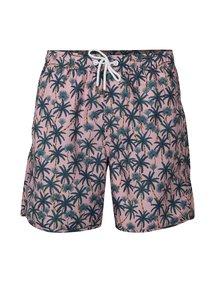 Zeleno-růžové plavky s palmami Dedicated Beach Palms