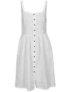 Bílé šaty na ramínka s knoflíky Blendshe Sersa