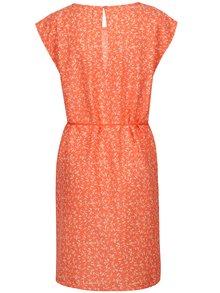 Rochie portocalie cu print floral Blendshe Mally
