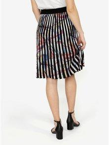 Krémovo-čierna vzorovaná plisovaná sukňa Desigual Lady Liberty