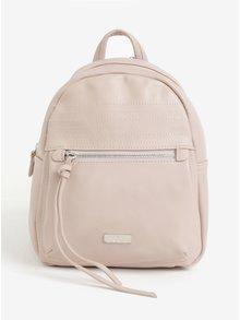Svetloružový koženkový batoh ZOOT