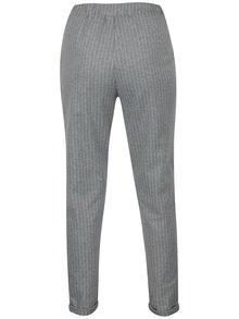 Pantaloni gri cu dungi fine si talie elastica Blendshe Liza