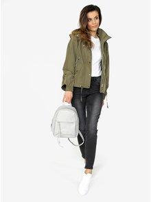 Sivý koženkový batoh ZOOT