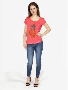 Ružové tričko s krátkym rukávom Desigual Rachell