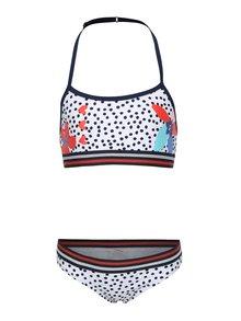 Modro-biele dievčenské dvojdielne plavky tuc tuc Dotted