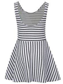 Čierno-biele dievčenské pruhované šaty bez rukávov tuc tuc Fantasy