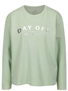 Bluza verde cu print argintiu Blendshe Hon