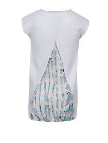 Biele dievčenské tričko s trblietavou potlačou tuc tuc Combined Camisole