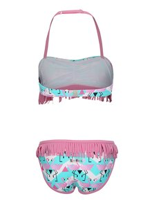 Zeleno-ružové dvojdielne dievčenské plavky tuc tuc Fringe