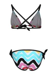 Čierno-biele dievčenské dvojdielne vzorované plavky tuc tuc Printed
