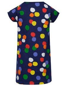Tmavomodré dievčenské šaty s farebnými bodkami tuc tuc Jersey