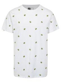 Bílé tričko s potiskem Dedicated Flying Dollars