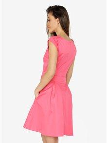 Rochie roz cu pliuri si buzunare - ZOOT