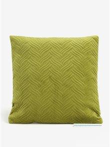 Zelený sametový polštář Kaemingk