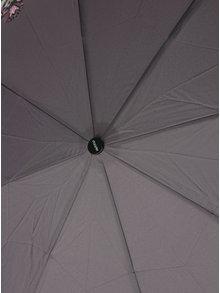 Sivý dámsky skladací dáždnik s potlačou Doppler
