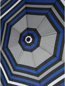 Modro-šedý skládací pruhovaný deštník s.Oliver
