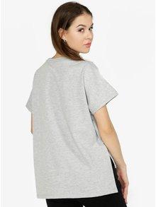 Šedé volné žíhané tričko Noisy May Sara