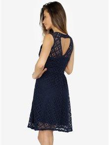 Tmavě modré krajkové šaty VERO MODA Simone