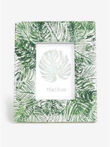 Rama foto verde cu alb cu model frunze Kaemingk