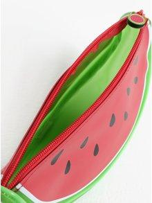 Červená kosmetická taštička ve tvaru melounu Gift Republic