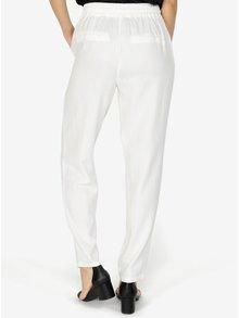 Pantaloni lejeri albi cu talie elastica VERO MODA Masta Milo