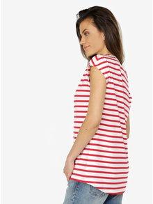 Bílo-červené dámské pruhované tričko Calvin Klein Jeans