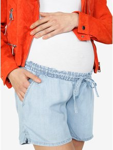 Pantaloni scurti din denim cu siret in talie Mama.licious Nesli