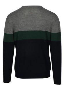 Sivo–modrý sveter z merino vlny HYMN