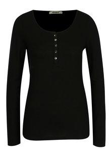 Čierne tričko s dlhým rukávom Haily's Greta