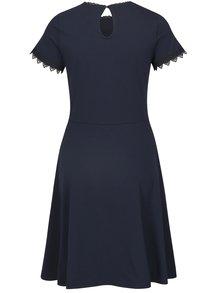Tmavě modré šaty s krajkovými detaily Dorothy Perkins