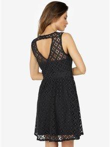 Čierne čipkované šaty VERO MODA Simone