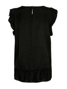 Bluza neagra cu volane pe maneci - VILA Ranny