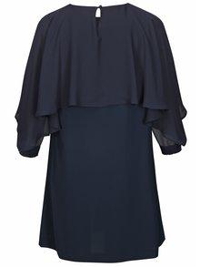 Tmavomodré šaty s volánovým rukávom Ulla Popken