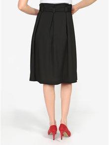 Čierna áčková sukňa s opaskom VERO MODA Emmy