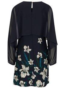 Tmavě modré květované šaty s dlouhým rukávem Dorothy Perkins