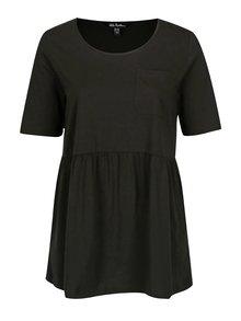Čierne tričko s náprsným vreckom Ulla Popken