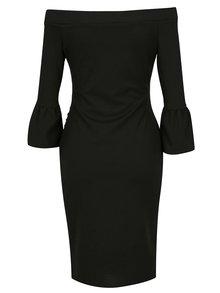 Černé pouzdrové šaty s odhalenými rameny Dorothy Perkins