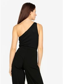 Body asimetric negru cu dungi in relief - MISSGUIDED