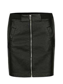 Čierna koženková mini sukňa Jacqueline de Yong Bounty