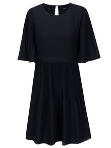 Tmavomodré šaty s 3/4 rukávom VERO MODA Amanda