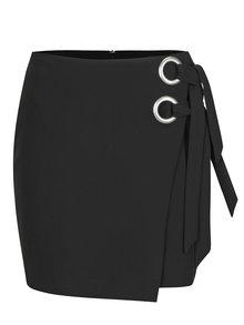 Černá mini sukně s vázáním ONLY Vacan