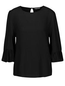 Bluza neagra cu maneci 3/4 si volane - ONLY Marly