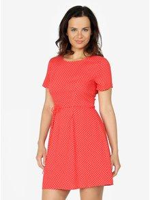 Červené puntíkované šaty ONLY Laura