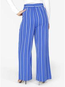 Pantaloni albastri cu dungi si croiala ampla - Selected Femme Pilea