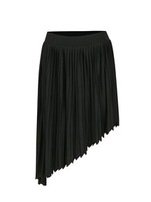 Čierna asymetrická skladaná sukňa Noisy May French