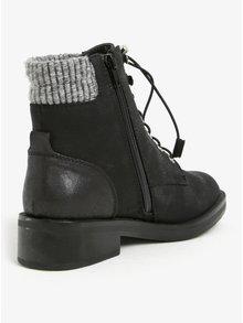 Ghete negre de iarna cu blana artificiala pentru femei - ONLY Alexandra