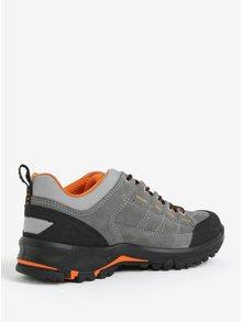 Sivé pánske kožené vodovzdorné topánky Weinbrenner